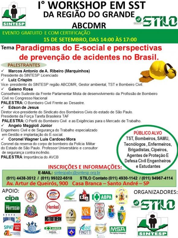1º WORKSHOP EM SST DA REGIÃO DO GRANDE ABCDRMP