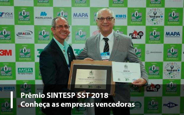 Conheça os ganhadores do Prêmio SINTESP de SST!