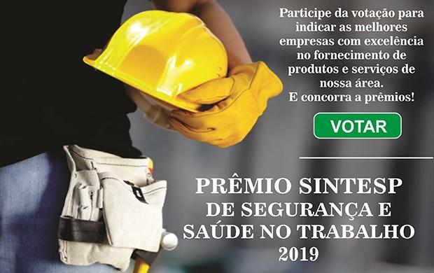 PREMIO SINTESP DE SEGURANÇA E SAÚDE NO TRABALHO